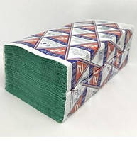 Рушник-вкладиш Z-BEST V-складання. 25*23 1500 шт(150шт*10 пач) зелені