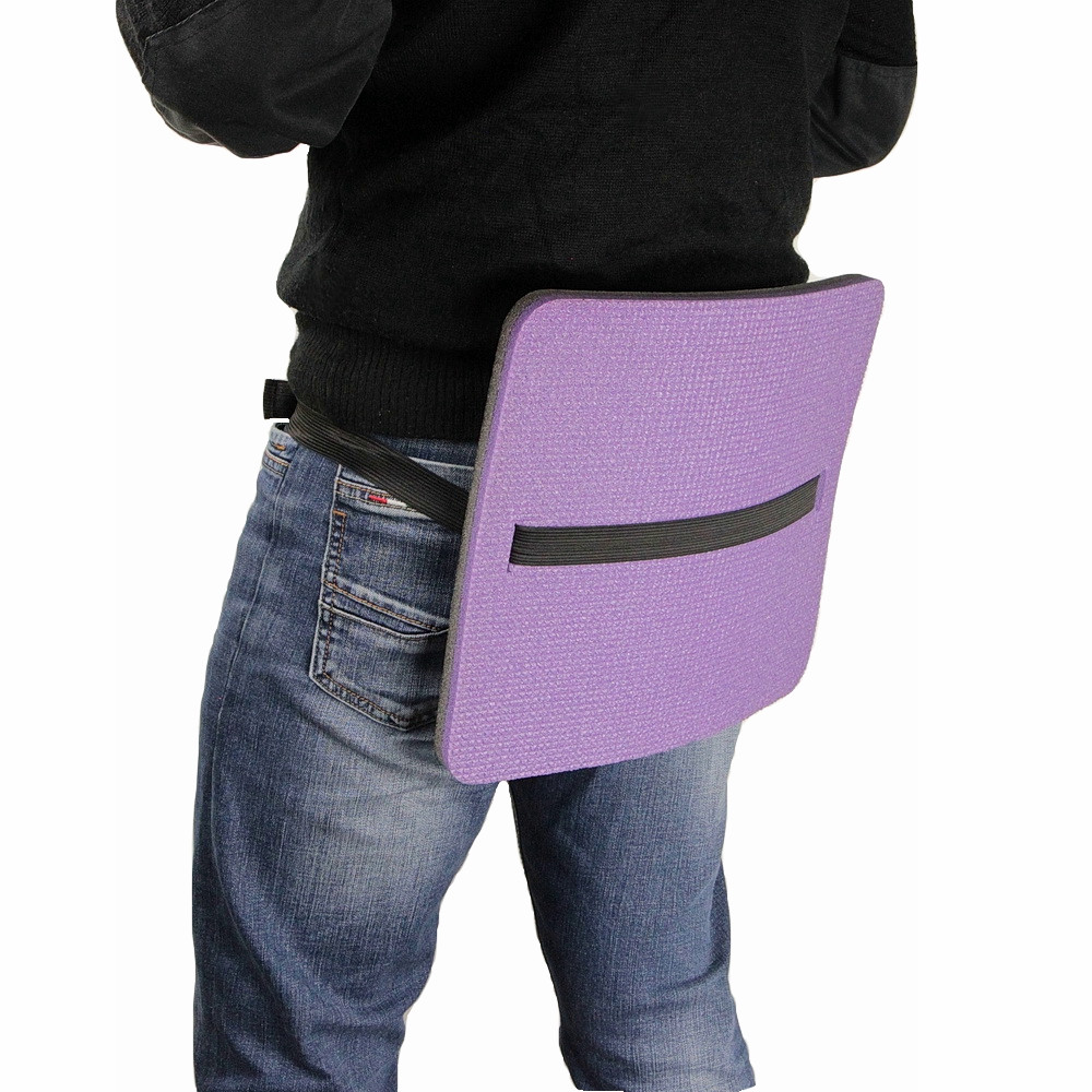 Сидушка туристическая двухслойная фольгированная, цвет фиолетовый размер 29 х 34 см, толщина 16 мм