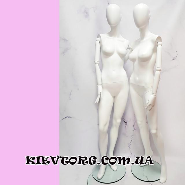 Манекены женские с белыми деревянными шарнирными руками для магазина одежды в полный рост (+ Видео)