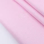 """Отрез сатина """"Мелкая полоска"""" розовая на белом №2328с размер 62*160, фото 2"""