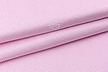 """Отрез сатина """"Мелкая полоска"""" розовая на белом №2328с размер 62*160, фото 4"""