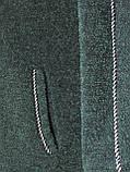 Теплое зимнее платье с карманами украшение в комплекте р.48 код 3001М, фото 4