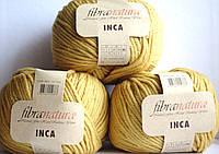 Чистошерстяная пряжа Фибранатура Inka горчичный