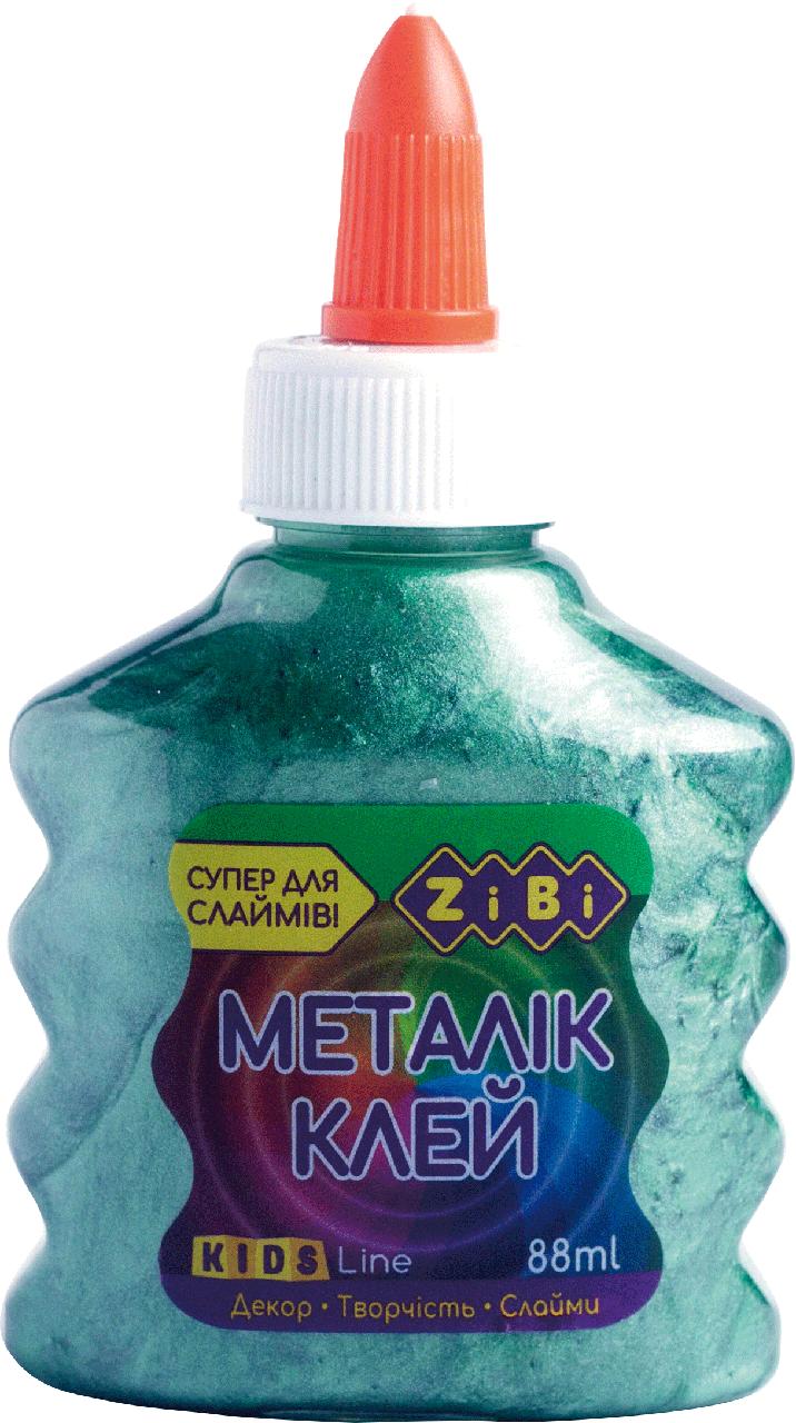 Клей Zibi МЕТАЛЛИК (для слаймов) зеленый 88 мл