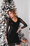 Нарядное блестящее платье из пайетки (3 цвета), фото 2