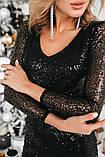 Нарядное блестящее платье из пайетки (3 цвета), фото 4