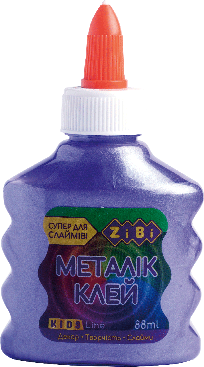 Клей Zibi МЕТАЛЛИК (для слаймов) фиолетовый 88 мл