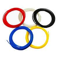 Набор пластика для 3D печати  PLA, L=5 м x 5 цветов, d=1.75 мм, 0.100 кг, t плавления 185-210 гр. C