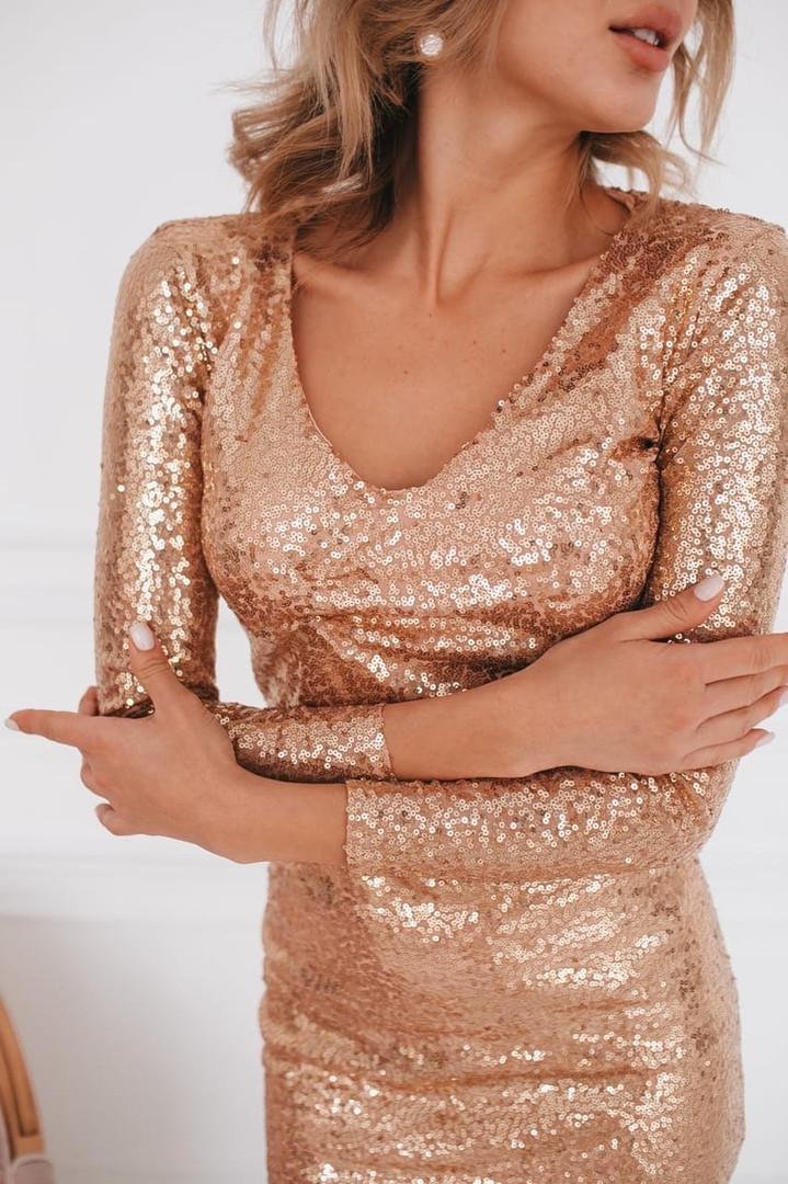 Нарядное блестящее платье из пайетки (3 цвета)
