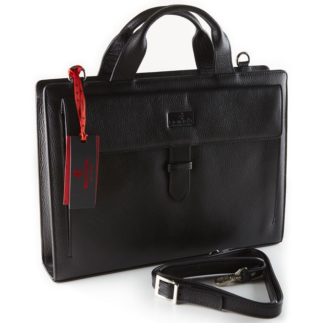 Портфель мужской Eminsa 7095-37-1 кожаный черный
