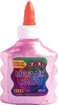Клей Zibi МЕТАЛЛИК (для слаймов) розовый 88 мл
