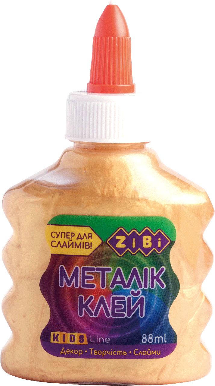 Клей Zibi МЕТАЛІК (для слаймов) золотий 88 мл