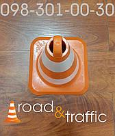 Конус дорожный гибкий Н500 (2 светоотражающие полосы)