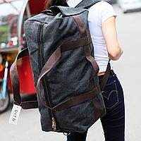 Большая дорожная сумка из холста. Сумка-трансформер. Дорожный рюкзак КСС55, фото 1