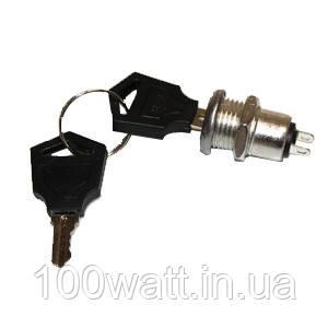 Кнопка ключ 2 контакта (Вкл./Выкл.) 16А 250В GAV370