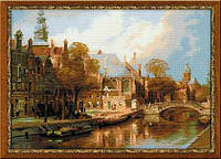 1189 «Амстердам. Старая церковь и Церковь св. Николая Чудотворца» по мотивам картины И. Клинкенберга