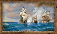 """1154 """"Бриг """"Меркурий"""", атакованный двумя турецкими кораблями"""" по мотивам картины И. Айвазовского"""