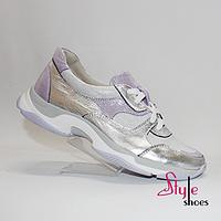 Женские кожаные кроссовки, фото 1
