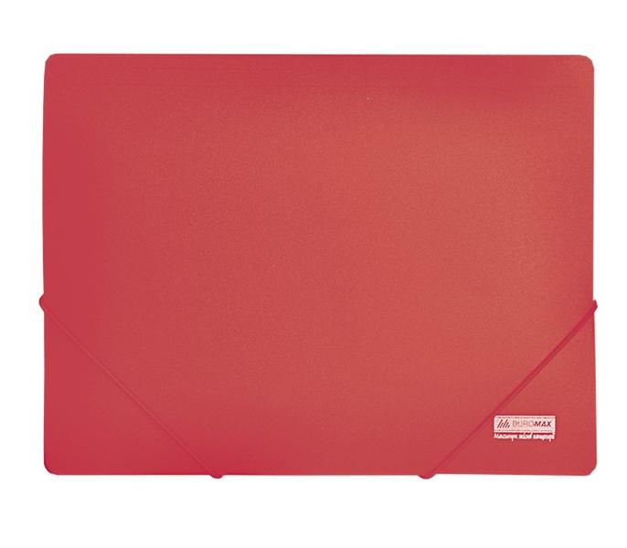 Папка пластиковая А4 на резинках Jobmax красная