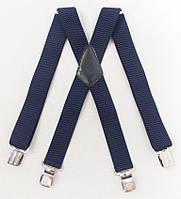 Широкие мужские подтяжки Paolo Udini темно-синие