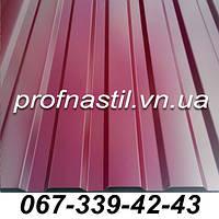 Профнастил вишневый ПС-12 RAL 3005 Винница
