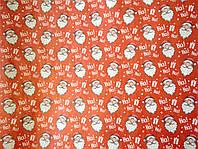 Бумага крафт  для упаковки подарков Новогодняя в листах 100х70 см.