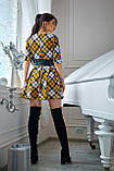 Платье  мод 373-18 размер 44,46 горчица с белым, фото 3