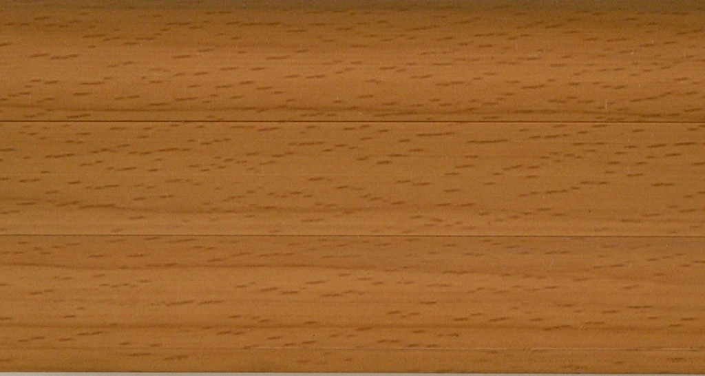 Плинтус с кабель  каналом и мягким краем BS02 Бук