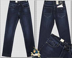 Зимние мужские джинсы на флисе Pagalee тёмно-синего цвета 33 размер