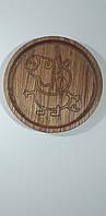"""Детская тарелка из дерева """"Cвинка Пеппа"""". Детская посуда из дерева. Детские тарелки. Декоративные тарелки."""