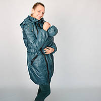 Нефрит - теплая и продуманная зимняя куртка 3 в 1 (слингоношение/беременность/после). Цена производителя!