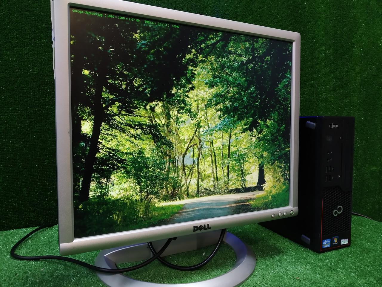 """ПК +монитор 19"""" PVA, i3-3220 3.3, 4 ГБ, 500 Гб, 2xCOM, 10 USB, USB 3.0 Настроен. Германия!"""