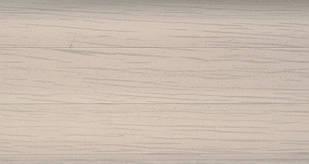Плинтус с кабель  каналом и мягким краем BS15 Белый Ясень