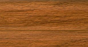 Плинтус с кабель  каналом и мягким краем BS18 Дуб золотой
