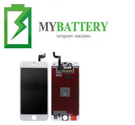 Дисплей (LCD) iPhone 6S с сенсором белый оригинал (переклейка)