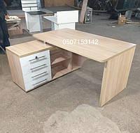 Угловой письменный стол, компьютерый стол с тумбой, стол для школьников. Модель V333/2, фото 1