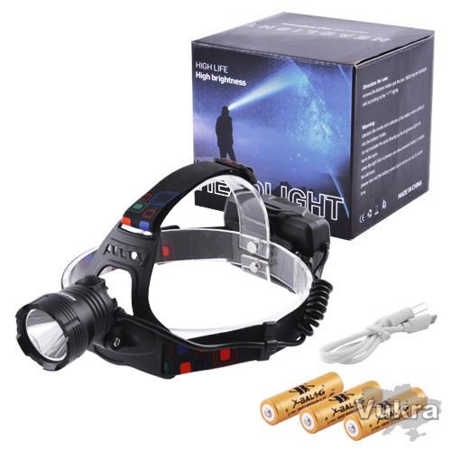 Мощный Налобный фонарь Police тактический фонарик для охоты и рыбалки Трускавец