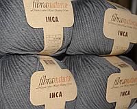 Чистошерстяная пряжа Fibranatura Inka мокрый асфальт