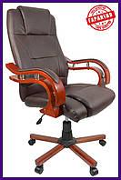 """Офисное компютерное кресло PRESIDENT Pemium  коричневое """"""""ПОЛЬША"""