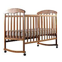Кроватка детская Ясень (без лака,простая, регулировка дна, колеса) - N1000Y