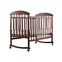 Кроватка детская Ольха ( тёмное дерево ) - N1001O-2
