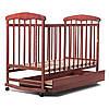 Кроватка детская с ящиком  (тёмное дерево) - N1002B-2