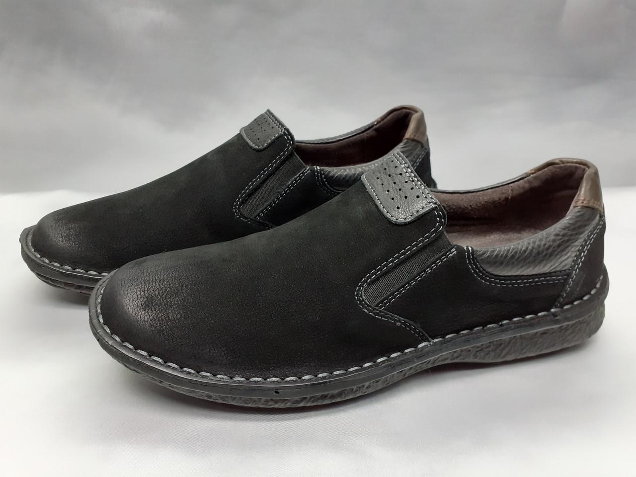 Мужские нубуковые комфортные туфли Detta