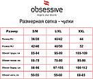 Женские чулки под пояс черные Obsessive Picantina, фото 4