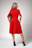Платье мод №555-3, размеры 44,46,48 бутылочное, фото 2
