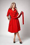 Платье мод №555-3, размеры 44,46,48 бутылочное, фото 3