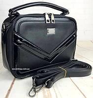 Небольшая кожаная женская сумочка коробка. Женская сумка с ручкой на ремне. Женский клатч.  РС104, фото 1