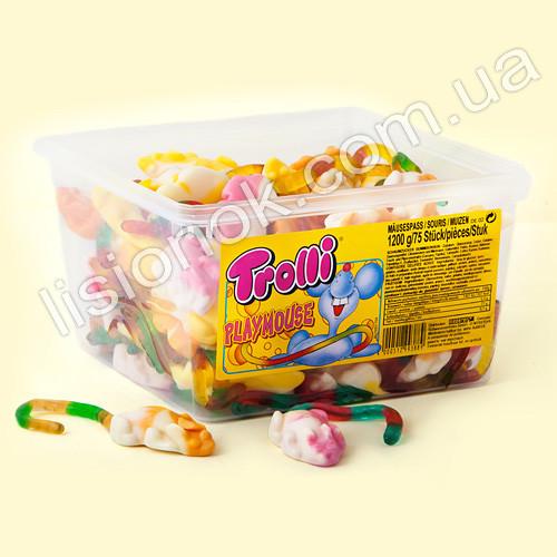 Вкуснейшие жевательные конфеты Trolli  «мышки» (1200 грамм) - символ 2020 года, легендарное немецкое качество