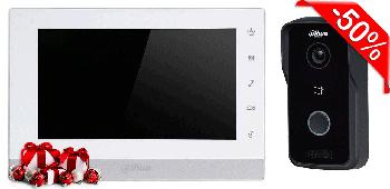 Комплект IP домофона Dahua DH-VTH1550CH + IP вызывная панель