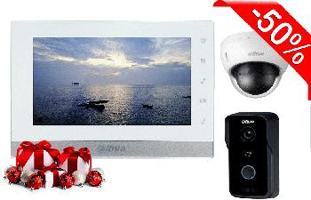 Комплект IP домофона Dahua DH-VTH1550CH + 2МП мини-камера